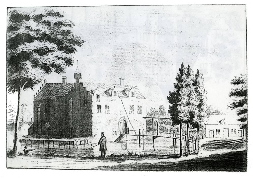 Huis Rijnestein in Jutphaas. Tekenaar onbekend; ca. 1700